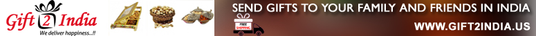 Send gifts to your family and friends in india- www.gift2india.us